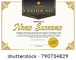 certificate template with... | Shutterstock .eps vector #790734829