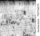 grunge texture black and white. ... | Shutterstock . vector #790736074