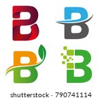 letter b vector logo set