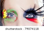 asymmetrical fantasy eyes... | Shutterstock . vector #79074118