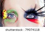 asymmetrical fantasy eyes... | Shutterstock . vector #79074118