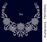 jewelry design  invitation...   Shutterstock .eps vector #790745041