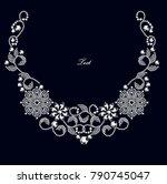 jewelry design  invitation... | Shutterstock .eps vector #790745047