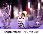 great glasses set with romanian ... | Shutterstock . vector #790745959