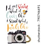 i don't shoot what it looks... | Shutterstock .eps vector #790746691