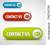set of contact us buttons   red ... | Shutterstock .eps vector #79074739