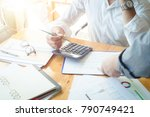 business situation team work... | Shutterstock . vector #790749421