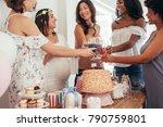 happy multiethnic friends... | Shutterstock . vector #790759801