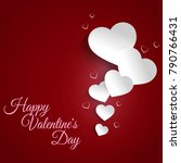 vector image paper hearts on a... | Shutterstock .eps vector #790766431