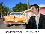 car used salesperson selling... | Shutterstock . vector #79076755