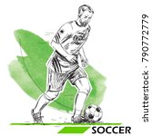 soccer  football player... | Shutterstock .eps vector #790772779