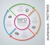 vector infographic template for ... | Shutterstock .eps vector #790778455