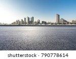 empty urban road and modern... | Shutterstock . vector #790778614
