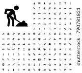 digging man icon illustration...