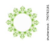 green leaves logo with empty... | Shutterstock .eps vector #790782181