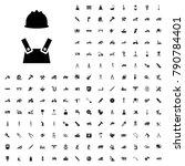 worker icon illustration... | Shutterstock .eps vector #790784401
