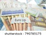 euro up news headline on euro... | Shutterstock . vector #790785175