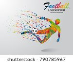 visual drawing man playing... | Shutterstock .eps vector #790785967