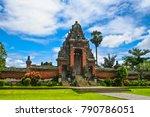 a roofed tower gate  kori agung ... | Shutterstock . vector #790786051