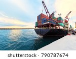 container ship commercial... | Shutterstock . vector #790787674