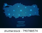 abstract image turkey map from... | Shutterstock .eps vector #790788574