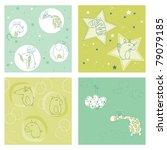 set of seamless backgrounds for ... | Shutterstock .eps vector #79079185