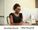 serious african american woman...   Shutterstock . vector #790794259
