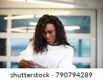 beautiful young woman in... | Shutterstock . vector #790794289
