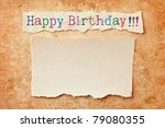 paper with ripped edges on... | Shutterstock . vector #79080355