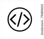 code icon in trendy flat style...