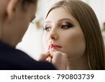 beautiful face woman  has... | Shutterstock . vector #790803739
