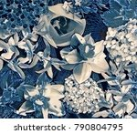 garden flower collage | Shutterstock . vector #790804795