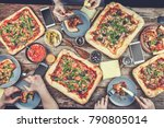 domestic food and homemade... | Shutterstock . vector #790805014