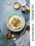 risotto with chicken and... | Shutterstock . vector #790808794