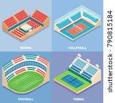 sport stadium vector isometric... | Shutterstock .eps vector #790815184