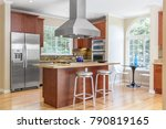 kitchen in luxury home with... | Shutterstock . vector #790819165
