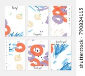 hand drawn creative universal... | Shutterstock .eps vector #790824115