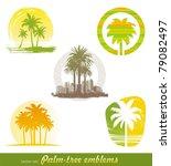 vector set   palm tree emblems  ...   Shutterstock .eps vector #79082497