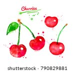 watercolor illustration of... | Shutterstock . vector #790829881