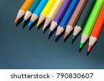 close up colorful pencils | Shutterstock . vector #790830607