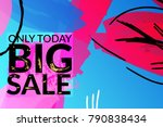 sale advertisement banner on... | Shutterstock .eps vector #790838434