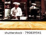 desk space and cook chef... | Shutterstock . vector #790839541