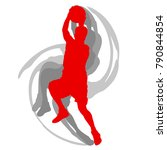 basketball player in action... | Shutterstock .eps vector #790844854