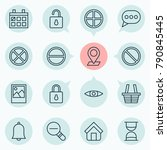 web icons set with unlock ... | Shutterstock .eps vector #790845445