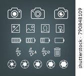 photography set   variety of... | Shutterstock .eps vector #790848109
