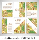 set of a4 cover  abstract... | Shutterstock .eps vector #790852171