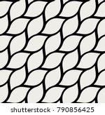 geometric leaves vector... | Shutterstock .eps vector #790856425