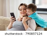 family  technology and... | Shutterstock . vector #790857124