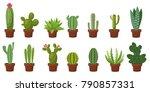 horizontal banner set of desert ... | Shutterstock .eps vector #790857331
