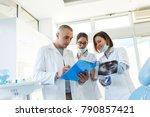 medical dentist team in dental... | Shutterstock . vector #790857421